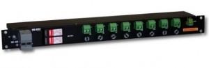 DC distribution panel, 8 way, PO-48S2 24/48V