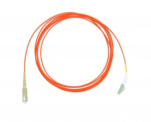 LC 45 deg boot - SC Multimode fibre patch lead 62.5/125 OM1 Simplex 10m