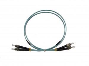 ST - ST Multimode fibre patch cord 50/125 OM3 Duplex 0.5m