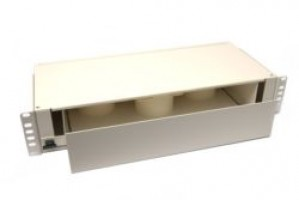 Storage/Patchcord Management Unit Sliding 2U 19 Cream
