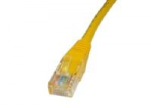 Yellow 0.25m Cat5 Ethernet cable - Patch cable RJ45 UTP